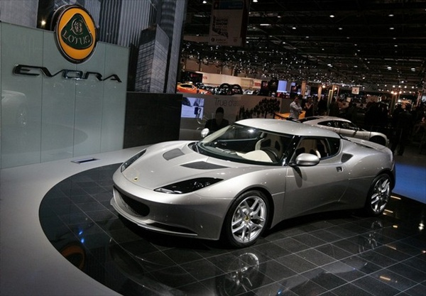 new Lotus Evora is unveiled during the press day of the 2008 Motor Show in London