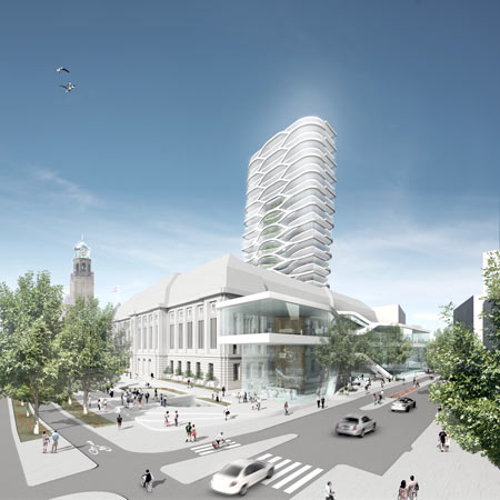 Architects UNStudio have released images of post office in Rotterdam