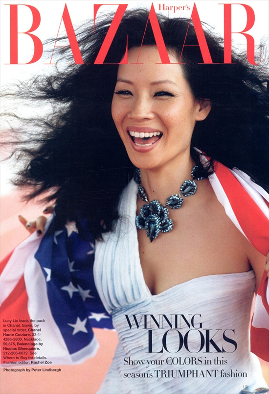 Lucy Liu for Fashion Olympics - Harper's Bazaar August 2008
