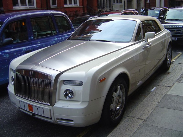 White Rolls-Royce from Qatar Number One