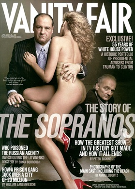 James Gandolfini and David Chase on the cover of Vanity Fair