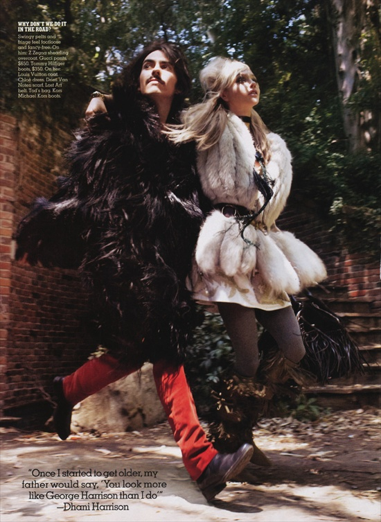 Dhani Harrison and Sasha Pivovarova