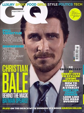 Christian Bale in GQ UK August 2008