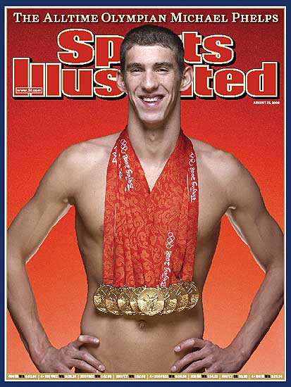 Michael Phelps on the cover of Sports Illustrated Magazine