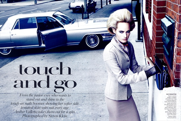 Amber Valetta - Touch and Go - Vogue US August 2008