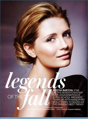 Mischa Barton - The Legends of the Fall - Instyle Magazine
