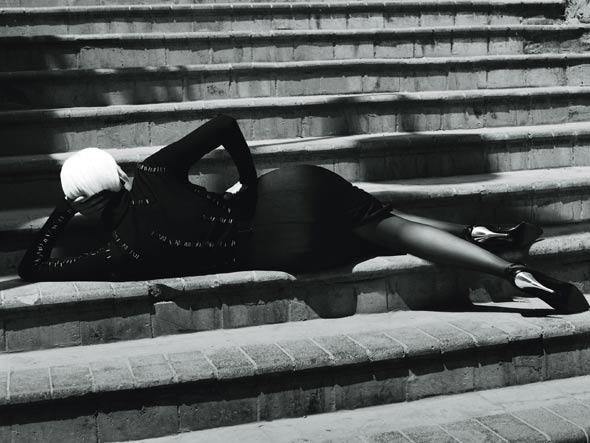 Lara Stone, photographers Mert Alas and Marcus Piggott