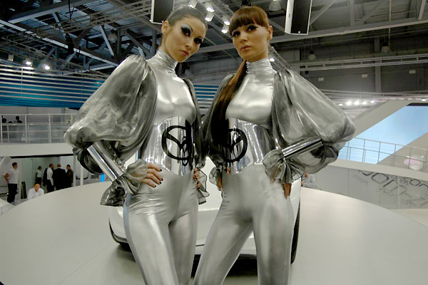 Russian girls of Moscow Motor Show 2008