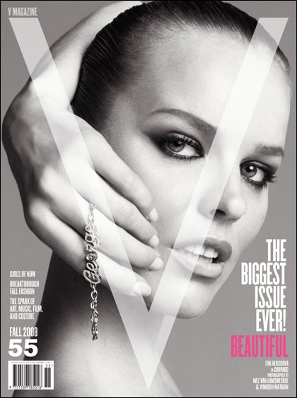 Eva Herzigova for V Magazine Sep 2008