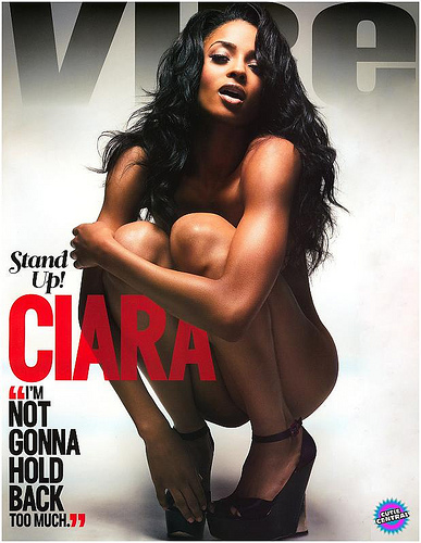 Ciara posed naked for Vibe magazine