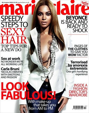 Beyonce - Marie Claire October 2008