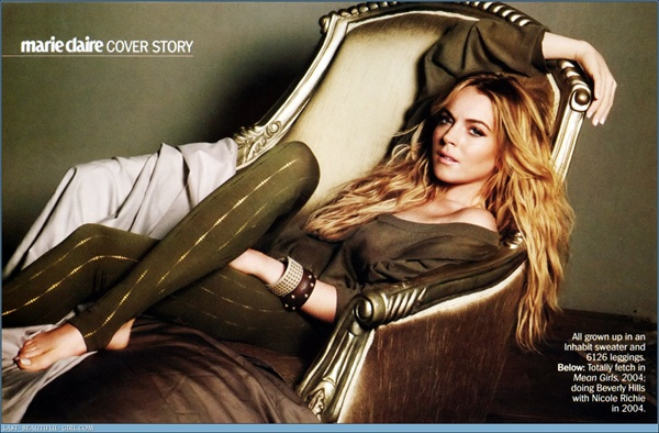 Lindsay Lohan - Marie Claire US October 2008