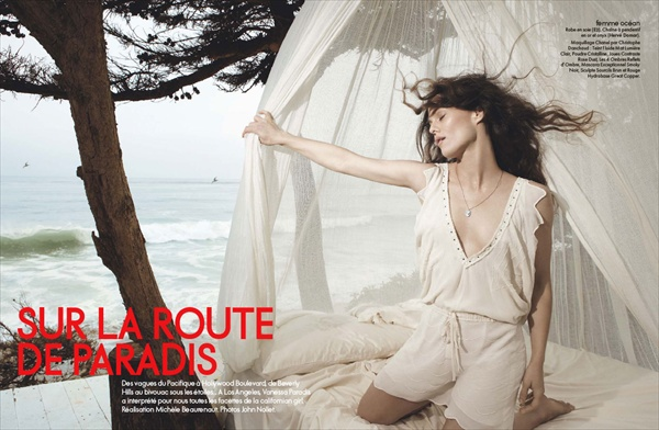 Vanessa Paradis in french ELLE magazine