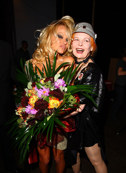 Pamela Anderson and Vivienne Westwood - Backstage at London Fashion Week