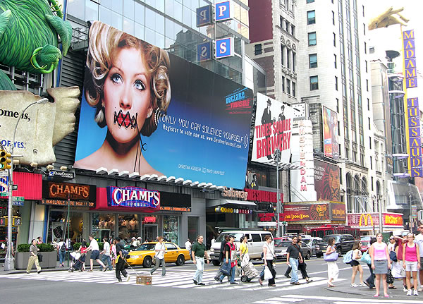 Declare Yourself - Times Square - Poster with Christina Aguilera