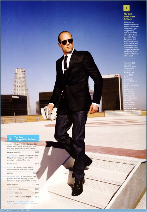Jason Statham - How to be the best dressed man in the office 2008