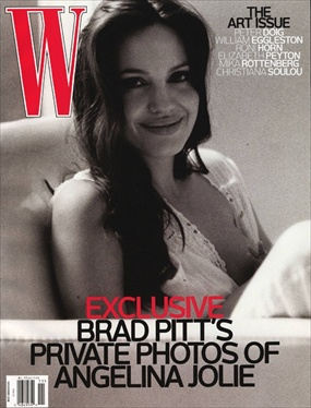 Angelina Jolie on the cover of W magazine november 2008