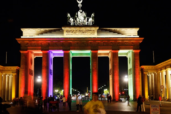 Brandenbrg Gate in Berlin, Festival of Lights