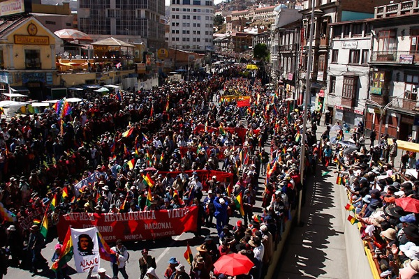 Evo Morales march to La Paz