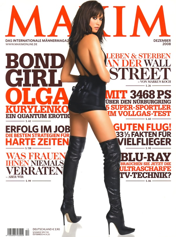 Olga Kurylenko on the cover of MAXIM December 2008 Germany