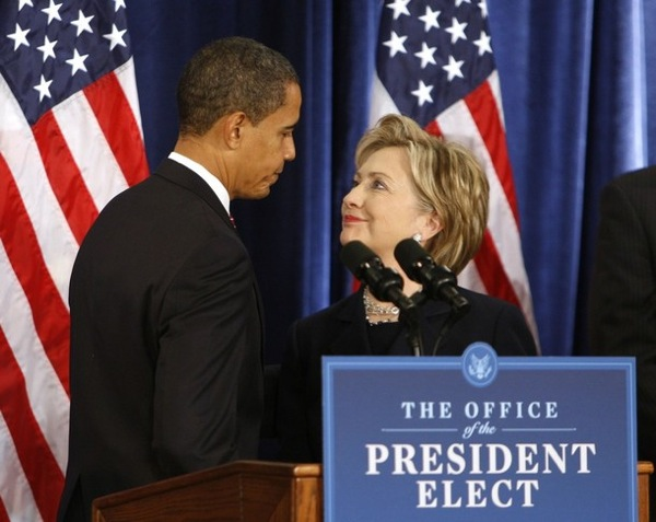 Barack Obama appoints Hillary Clinton as Secretary of State