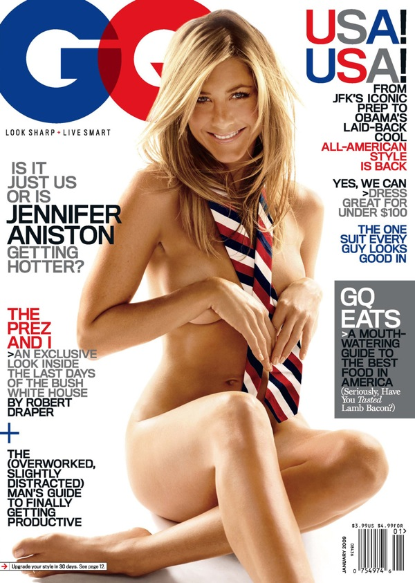 Jennifer Aniston Nude on the cover of GQ Magazine January 2008