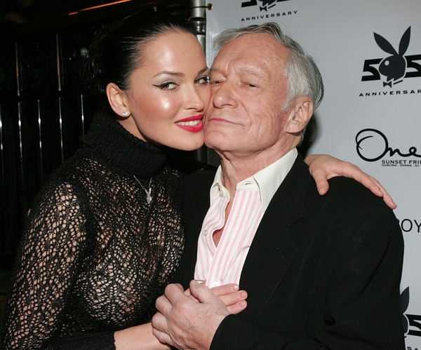 Hugh Hefner and Dasha Astafieva