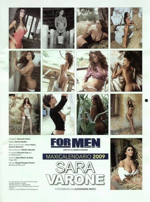Sara Varone - For Men Magazine Calendar 2009