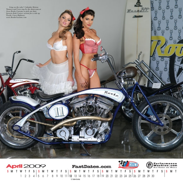 2009 Iron & Lace Custom Bike Pinup Calendar