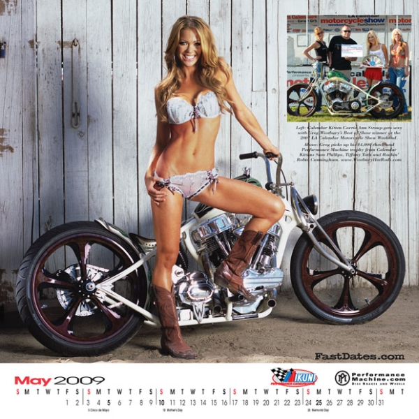 Custom Bike and Centerfold Model Calendar
