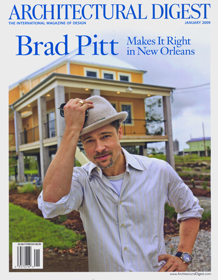 Brad Pitt - Architectural Digest January 2009