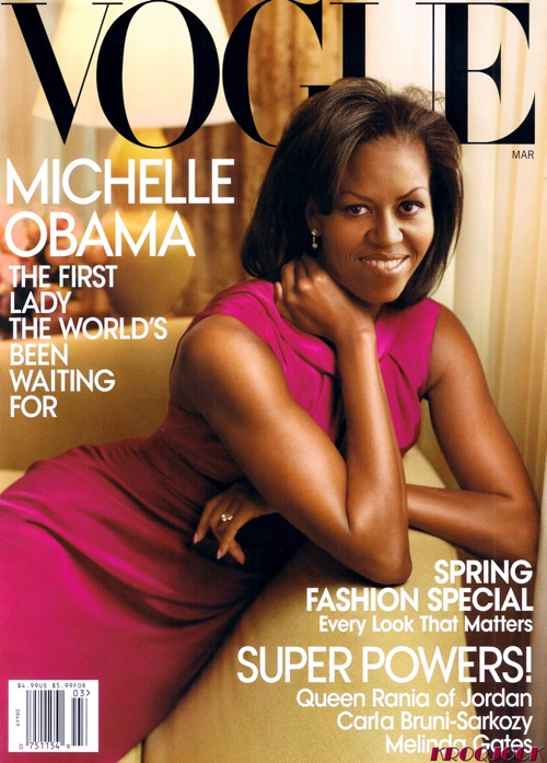 Michelle Obama on the cover of Vogue March 2009