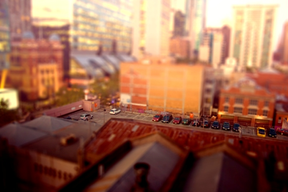 Miniature cities by Ben Thomas