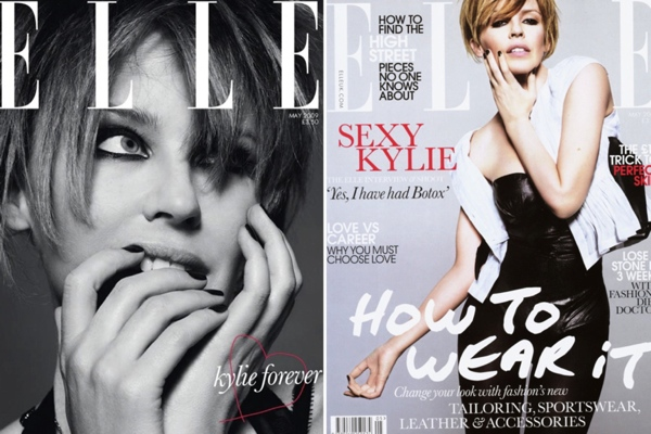 Kylie Minogue - ELLE UK May 2009 covers