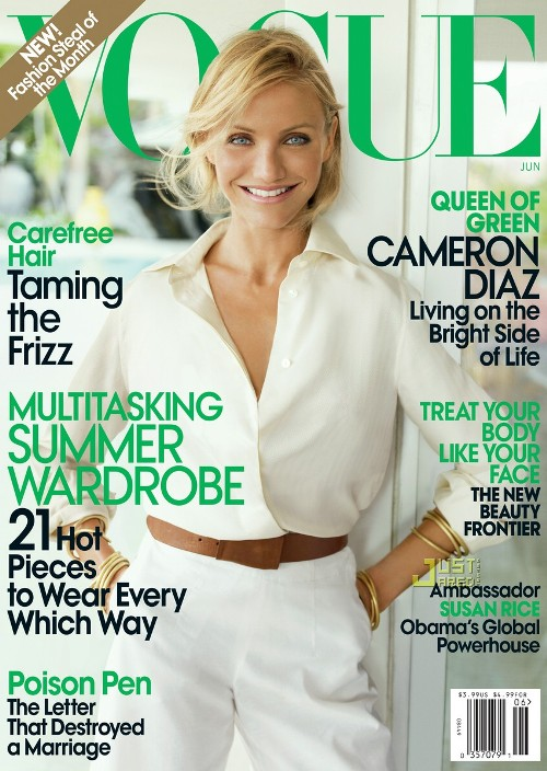 Cameron Diaz on the cover of Vogue US June 2009