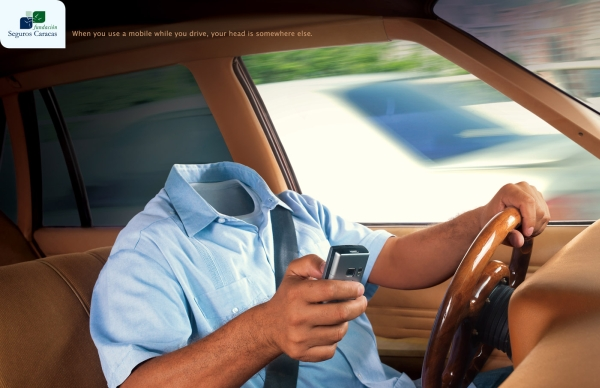 When you use a mobile while you drive, your head is somewhere else