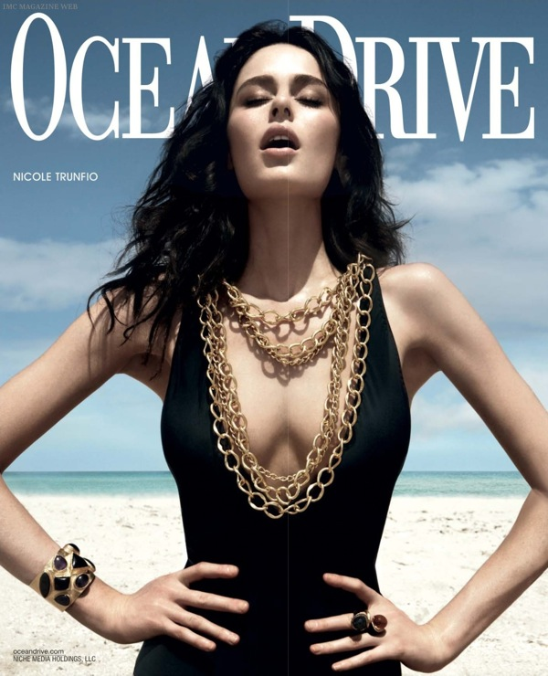 Nicole Trunfio Australian Model for Ocean Drive Magazine July August 2009