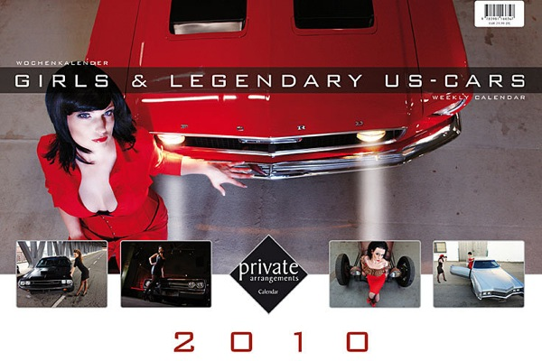 Girls and Legendary US Cars 2010 Calendar