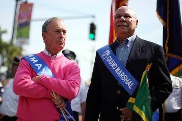 Michael Bloomberg and Colin Powell