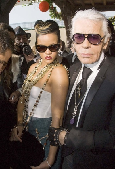 Rihanna and Karl Lagerfeld