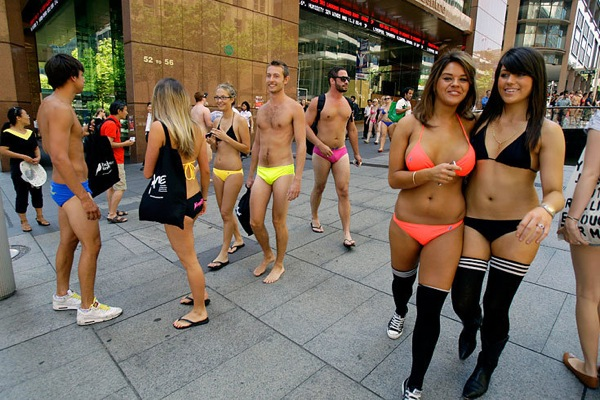 Swimwear parade in Sydney
