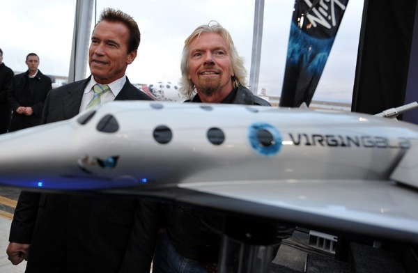 Richard Branson and Arnold Schwarzenegger