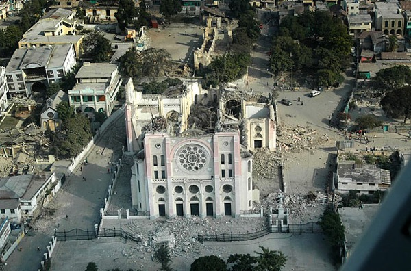 Haiti after earthquake - Cathedral aeril photography