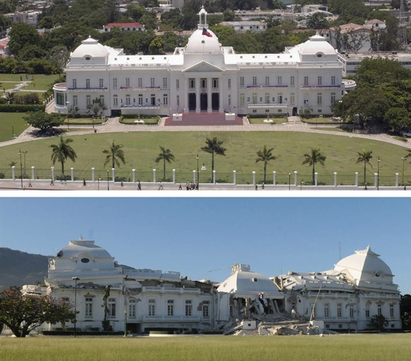 Haitian National Palace Before and After Earthquake