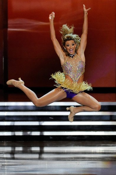 Brittany Jeffers Miss Nebraska dances in the talent competition.jpg