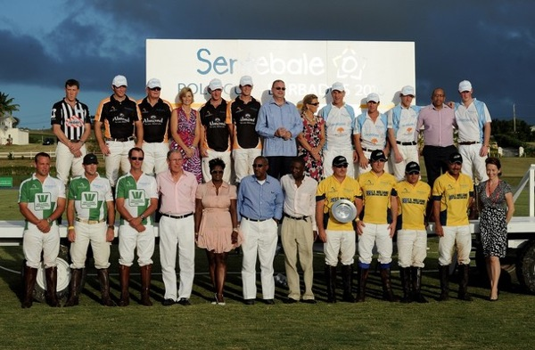 Prince Harry competes in the Sentebale Polo Cup