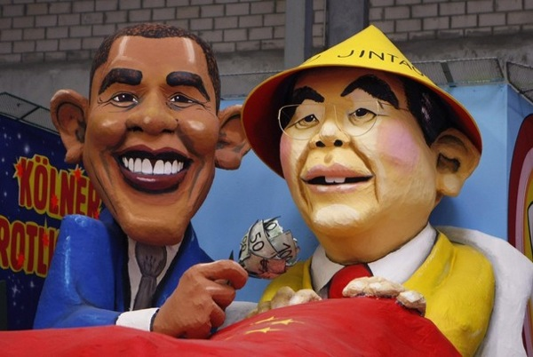 Political caricatures at Carnival in Germany