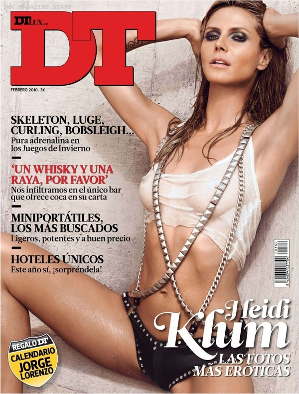 Heidi Klum - DT Magazine February 2010 cover