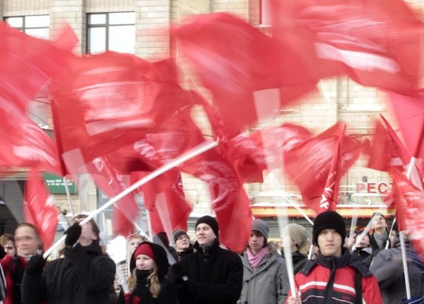 Communist Rally - 23 February - Fatherland Day in Russia