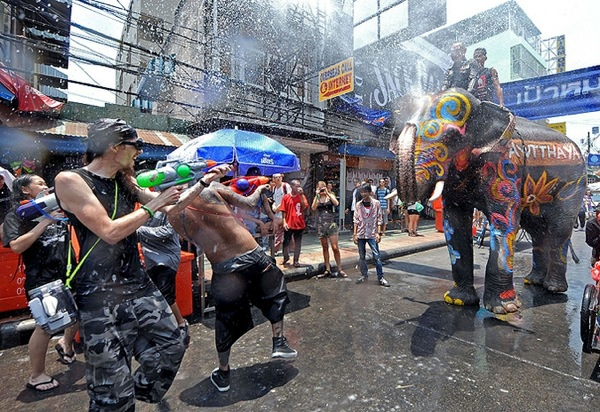 Thai New Year Celebration in Thailand
